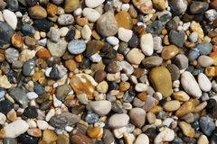 sea wet pebbles stock photo