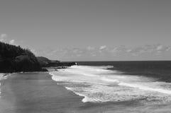 Sea, White, Black And White, Coastal And Oceanic Landforms Royalty Free Stock Photo