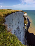 Sea and White Cliffs of Dover, Kent, England Stock Photo