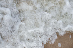 Sea with white foam Stock Photos
