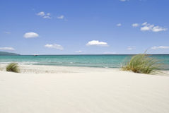 Sea and white sand Stock Image