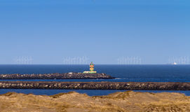 Sea wind turbines Royalty Free Stock Photos