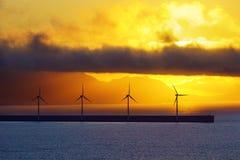 Sea wind turbines Stock Image