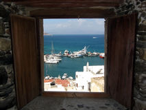 Sea window. Wathsing the sea through my window Stock Image