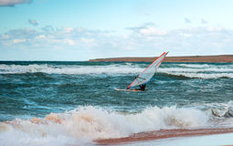 Sea Windsurfing Sport sailing water active leisure Windsurfer training Stock Images
