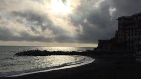 The Mediterranean sea in winter stock video