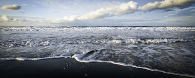 Sea winter dramatic Royalty Free Stock Photos
