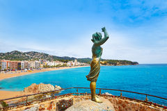 Sea woman in Lloret de Mar Mujer Marinera Royalty Free Stock Photography