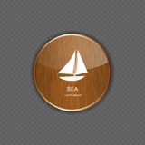 Sea wood application icons vector illustration Royalty Free Stock Photography