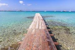 Sea wooden pier stock photo