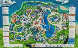 Sea world map 2017 Stock Image