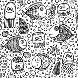 Sea world pattern Royalty Free Stock Image