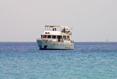 Sea yacht stock photography