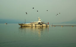 The sea yacht Royalty Free Stock Photography