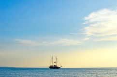 Sea and yacht Royalty Free Stock Image