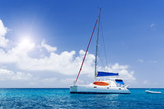 Sea yacht in azure water. Stock Photography
