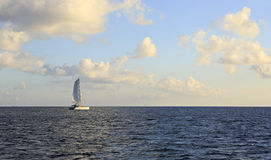 Sea yacht in the Indian Ocean Royalty Free Stock Photos