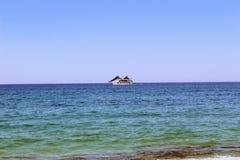 The sea yacht moves along the sea surface Antalya, Turkey Stock Photography