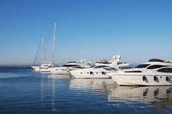Sea yacht port Royalty Free Stock Image
