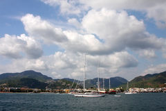 The sea and yachts. Turkey.  Marmaris Royalty Free Stock Photos