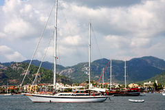 The sea and yachts. Turkey.  Marmaris Stock Photo