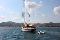 The sea and yachts. Turkey.  Marmaris Royalty Free Stock Photography