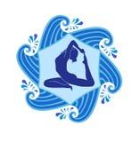 Sea yoga Royalty Free Stock Image