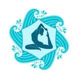 Sea yoga Royalty Free Stock Photography