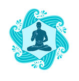 Sea yoga Royalty Free Stock Images