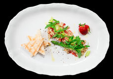 Seabass carpaccio isolated with clipping path Stock Photos