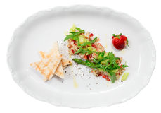 Seabass carpaccio isolated with clipping path Royalty Free Stock Photography