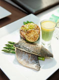 Seabass dish Royalty Free Stock Photography