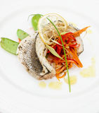 seabass haute тарелки кухни Стоковые Фотографии RF
