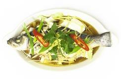 Seabass Nueng Khing Стоковые Фотографии RF