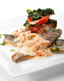 Seabass with Tomato Stock Images