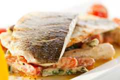 Seabass with Tomato Stock Photos