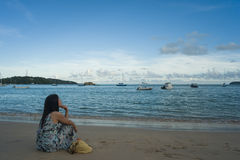 Seabeach at tropic Stock Images