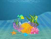 Seabed. Illustration of a wonderful seabed Royalty Free Stock Photo
