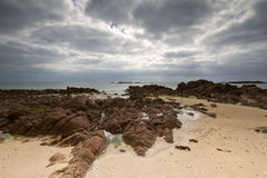 Seabed off the Jersey, UK, coast Royalty Free Stock Photo
