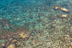 Seabed shines through the clear water Stock Photos