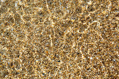 The seabed through the sparkling clear water Royalty Free Stock Photos
