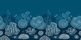 Seabed for the substrate of your printing or web vector illustration