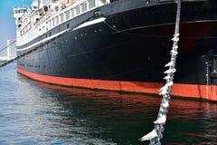 Seabird port i statek obraz royalty free
