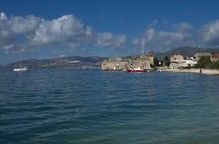 Seaboard on Kastela,  Adriatic sea, near Split, Croatia - Kastel Gomilica Stock Photography
