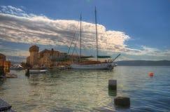 Seaboard on Kastela,  Adriatic sea, near Split, Croatia - Kastel Gomilica Royalty Free Stock Photos