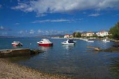 Seaboard on Kastela, Adriatic sea, near Split, Croatia Royalty Free Stock Images