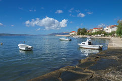 Seaboard on Kastela, Adriatic sea, near Split, Croatia. Seaboard in Kastela, near Split, Croatia Stock Photo