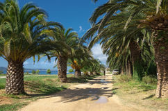 Seaboard on Kastela,  Adriatic sea, near Split, Croatia Stock Photo