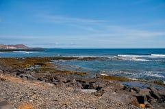 Seaboard of the Playa de las Americas. Tenerife.Canary islands.Spain Royalty Free Stock Photos