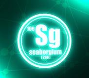 Seaborgium化学元素 库存例证